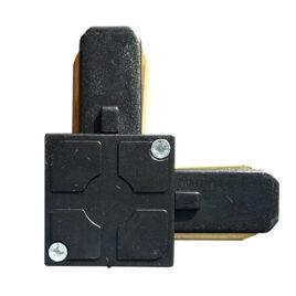 Μονοφασικός Connector 2 Καλωδίων Συνδεσμολογίας Ελ (L) για Μαύρη Ράγα Οροφής GloboStar 93027