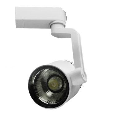 Διφασικό Bridgelux COB LED Φωτιστικό Σποτ Ράγας 15W 230V 1800lm 24° Ψυχρό Λευκό 6000k GloboStar 93082