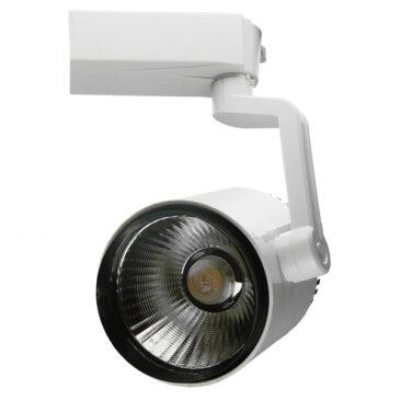 Διφασικό Bridgelux COB LED Φωτιστικό Σποτ Ράγας 30W 230V 3000lm 24° Θερμό Λευκό 3000k GloboStar 93083