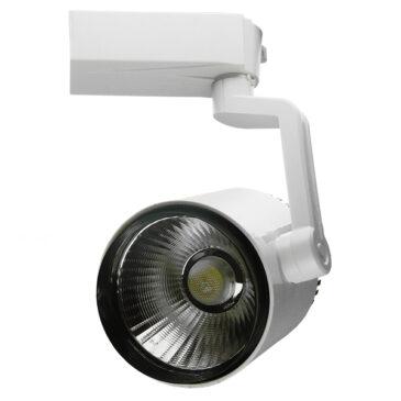Διφασικό Bridgelux COB LED Φωτιστικό Σποτ Ράγας 30W 230V 3600lm 24° Ψυχρό Λευκό 6000k GloboStar 93085
