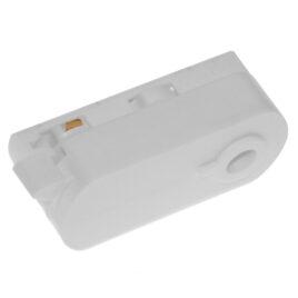 Διφασικός Connector 3 Καλωδίων Αντάπτορας Κρέμασης Φωτιστικών για Λευκή Ράγα Οροφής GloboStar 93124